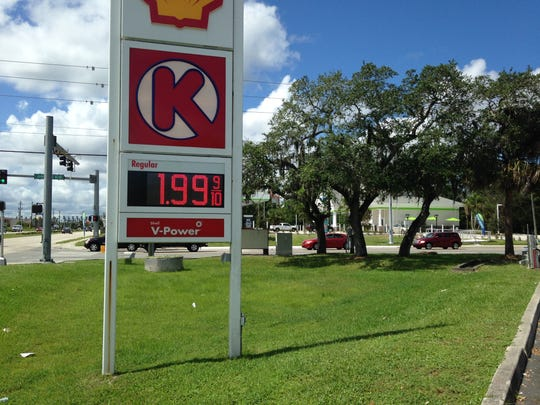 Gas prices in Brevard County as starting to fall below