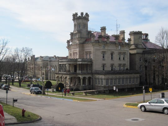 The Anamosa State Penitentiary, established in 1872, is an example of Gothic Revival architecture. It was built with locally quarried limestone.