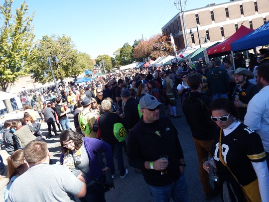 Thousands of beer fans and Hawkeye fans descended on