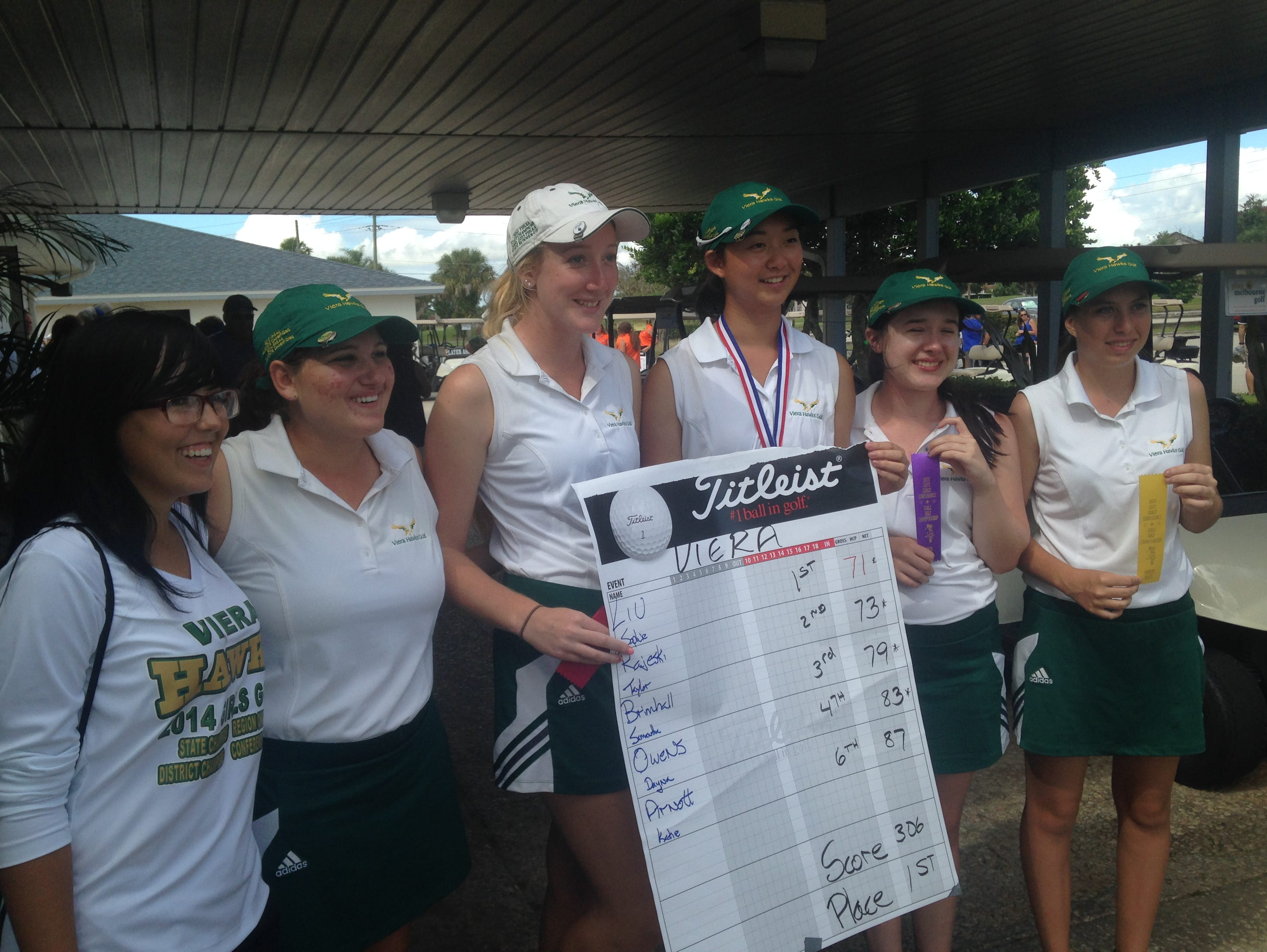 Viera's girls won the Cape Coast Conference golf title on Tuesday