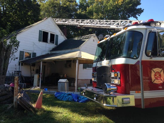 One person was injured in this house fire Tuesday morning in the 4400 block of N. Market St., just north of Wilmington city limits, officials say.