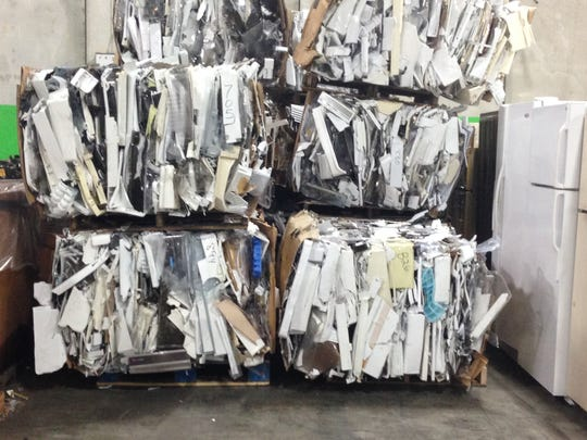 In one refrigerator alone, about 200 pounds of parts can be responsibly recycled to produce new materials, including steel, aluminium and glass.
