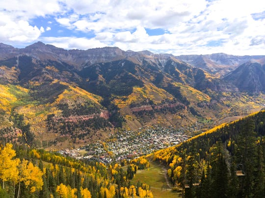 Telluride offers plenty of affordable and family-friendly activities in the fall. Among them is a gondola ride that offers breathtaking views of the fall foliage.