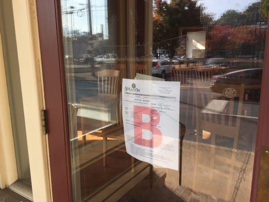 A permit for the new Joe's Steakhouse in downtown Staunton hangs in the window of the former Irish Alley restaurant.