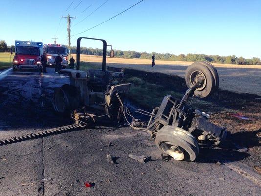 Tractor crash