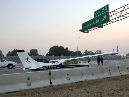 Aircraft Lands On Interstate