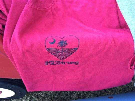 The front logo of the t-shirts Janet Kulig and her 7-year-old daughter Kinsie are selling to raise funds for Columbia flood victims.