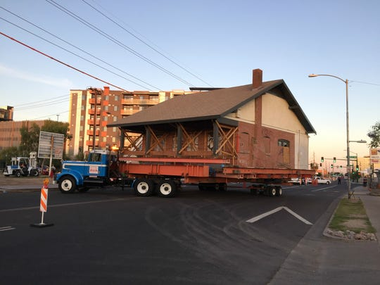 The Joseph W. Wurth House being relocated in downtown Phoenix.