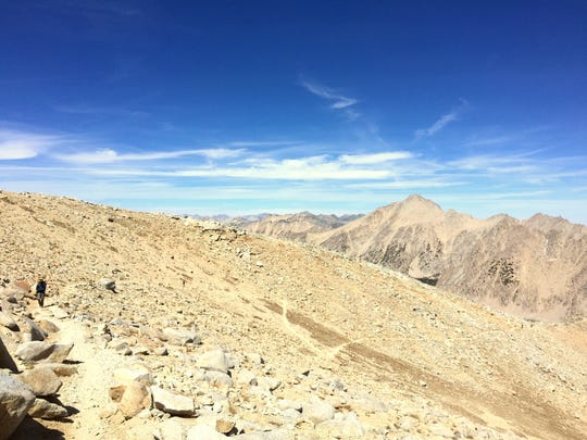 It's a long, exposed climb to the top of Forester Pass. But the trail is in good condition and the views are spectacular.