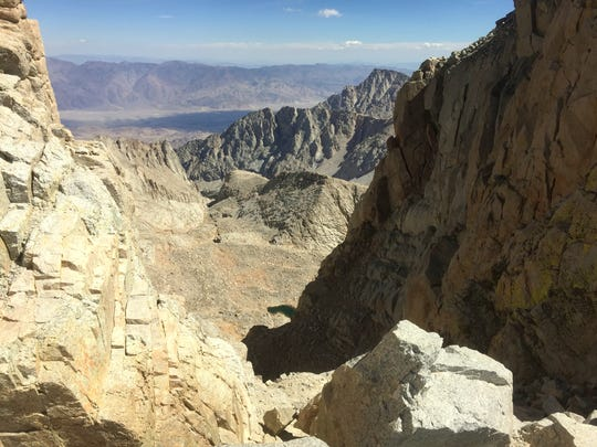There are some steep drops near the final 1.9-mile section of trail to the top of Mt. Whitney. Falls can be fatal.