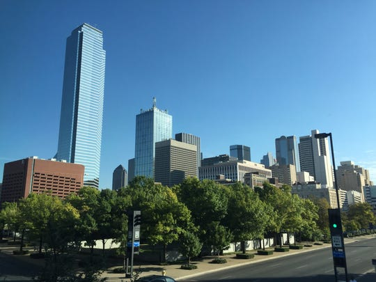 Downtown Dallas on Oct. 16, 2015