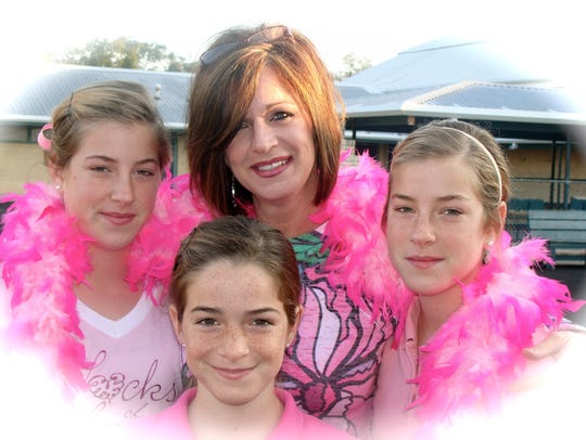 Madelene Boudreaux and three of her daughters, pretty