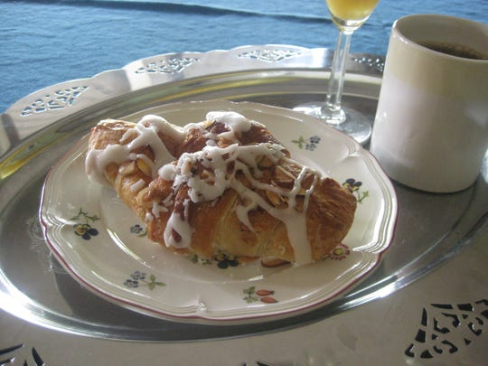 An almond croissant from  The Bake Shoppe.