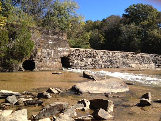 Cedar Falls Park and Historic Site in southern Greenville