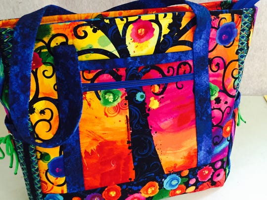 'Tree of Life,' a bag by Joyce Mills, will be included in a showing of work by Artful Bee members this weekend in Aztec.