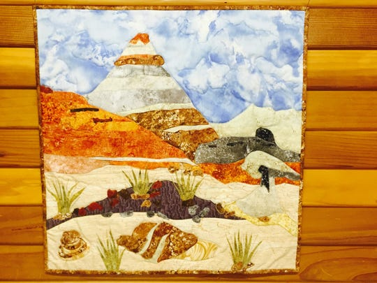 'Bisti Hoodoo' by Donna Schmitt is part of a showing of works by members of the Artful Bee fiber arts collective opening this weekend in Aztec.