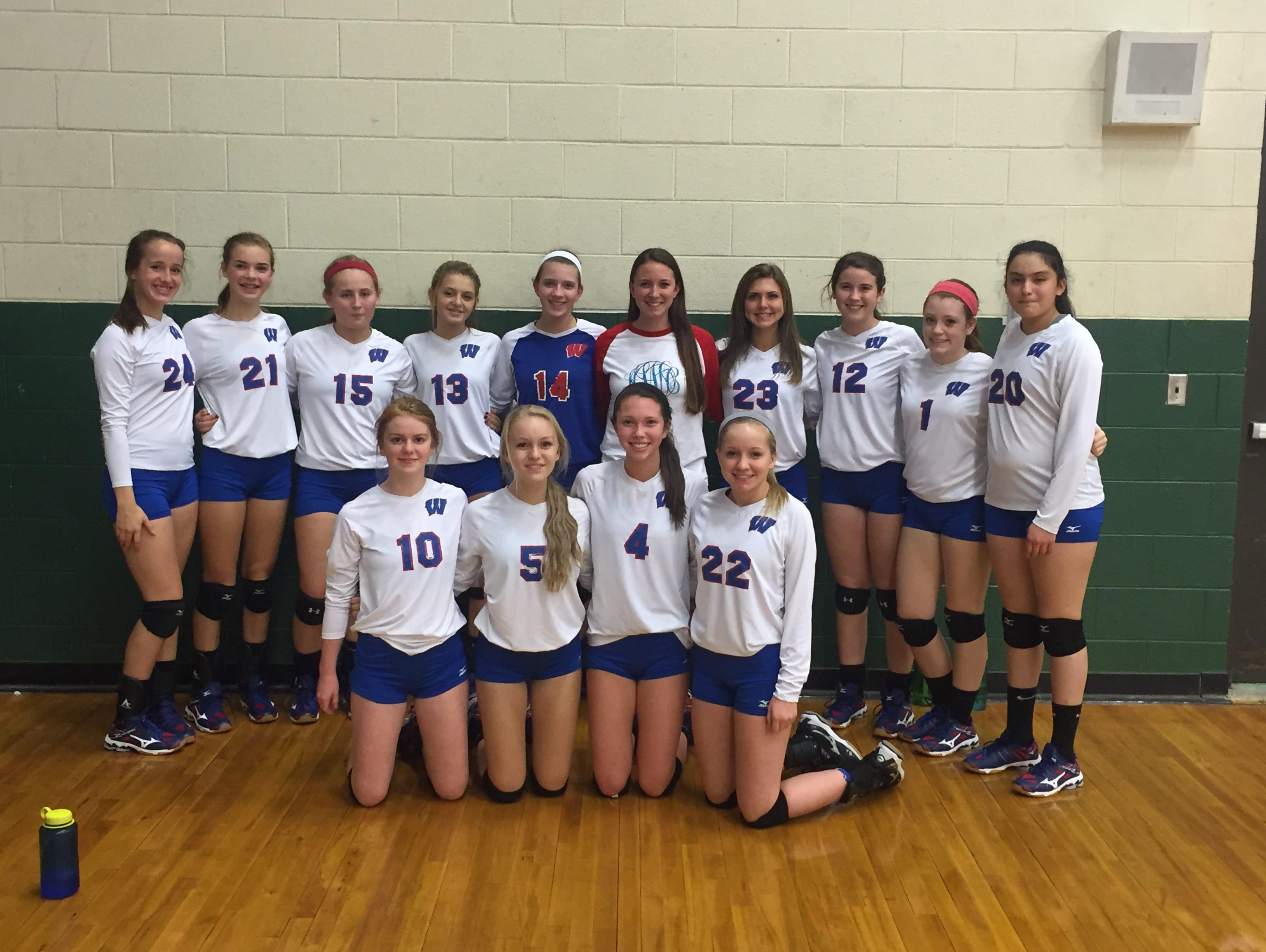 The West Henderson junior-varsity volleyball team.