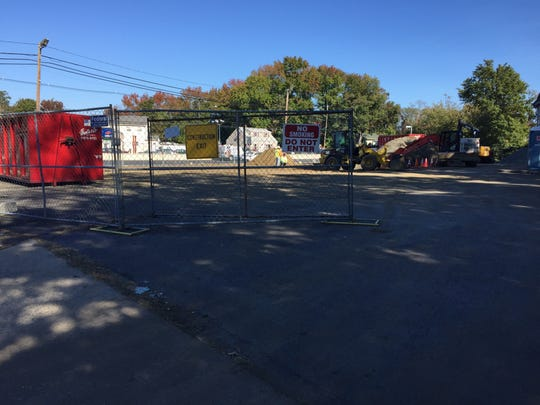 The construction site of a proposed CVS at the intersection of Route 36 and Laurel Ave., Hazlet.