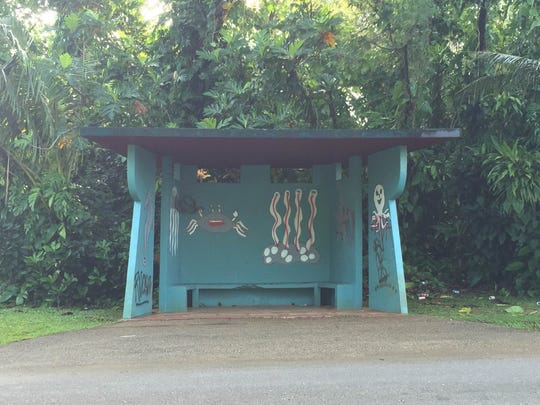 A bus stop  in Mangilao is available for adoption through