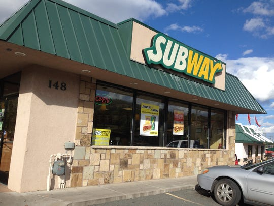 This Subway sandwich shop was robbed Thursday afternoon.