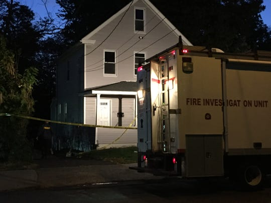 The Rockland fire investigation truck parked outside