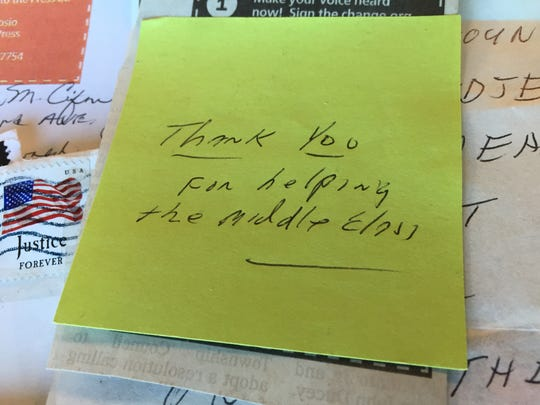 One man attached this note to the petition 'coupon' he sent to the Asbury Park Press, asking to sign.
