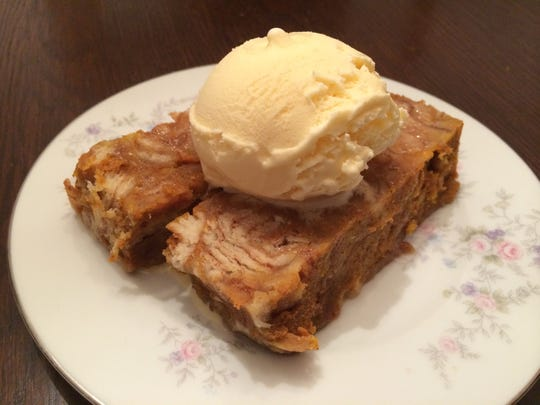 Pumpkin bread pudding from Creme Cupcake & Dessert