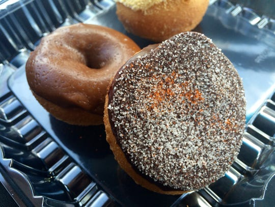 A Spicy Mexican Chocolate doughnut from Peace, Love