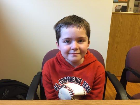 Dylan Hendricks, a third-grader, read more than 7,000