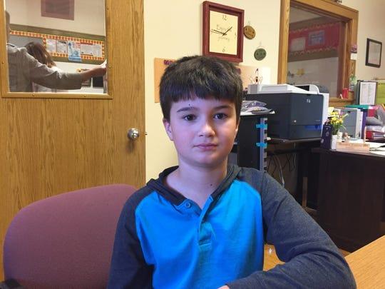 Kelton Dick, a sixth-grader, read more than 8,000 minutes