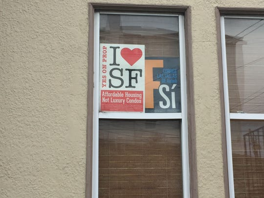 Signs in support of San Francisco ballot measure Proposition