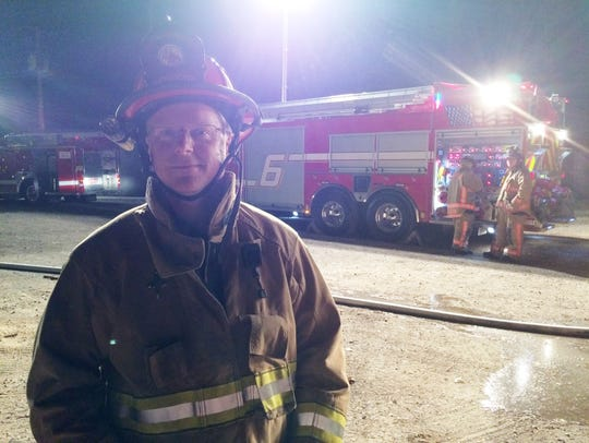 NWTC Adjunct Fire Instructor Eric Johnson in Sturgeon