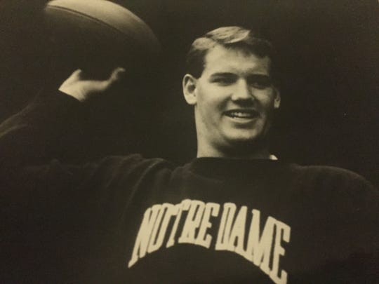 Former Rumson-Fair Haven standout Pete Graham at Notre Dame in 1987.
