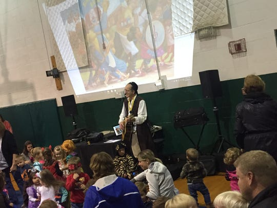 Johnny Only performs at a musical play date at Highland Park in Endwell every Wednesday.