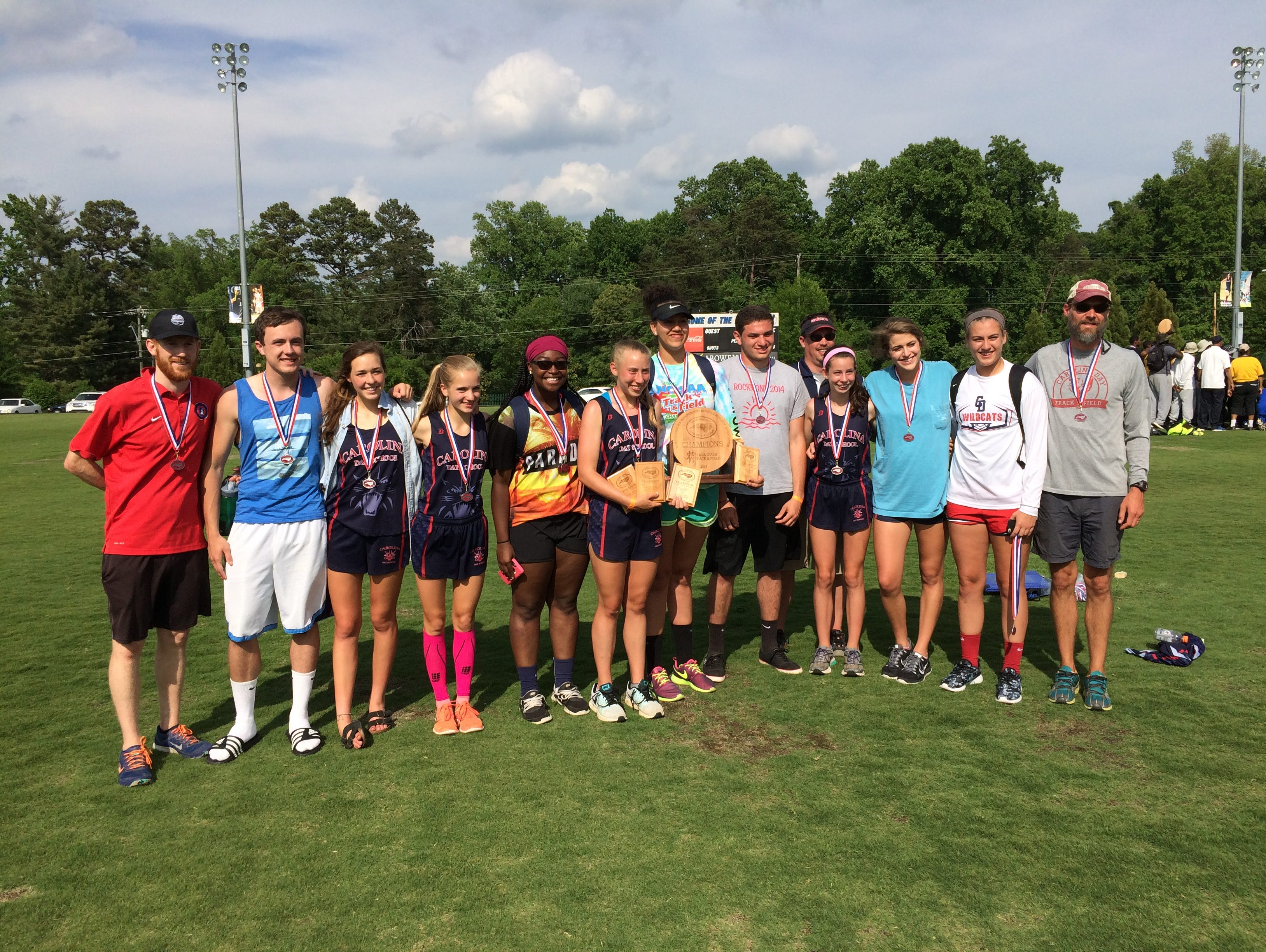 The Carolina Day girls won the NCISAA 2-A cross country meet on Friday in Charlotte.