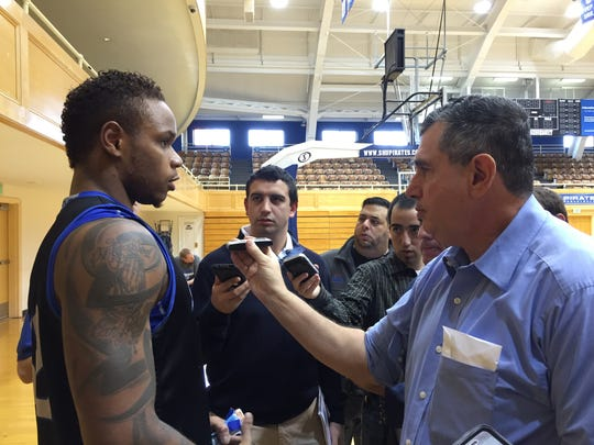 Seton Hall's Derrick Gordon takes questions