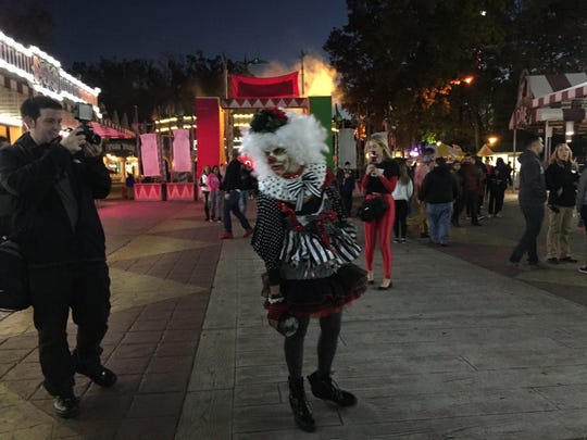 Jax disguised herself as a zombie clown and scared the masses at Six Flags Great Adventure Friday evening.