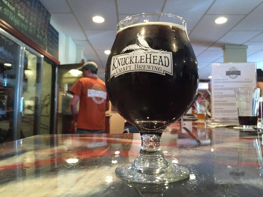 Knucklehead Dark Shadow, a maple vanilla porter.