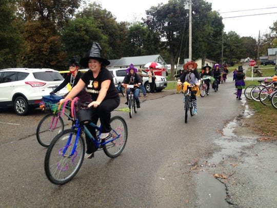 Crockett Witches Ride benefitted the American Cancer Society on Halloween with an inaugural fundraiser ride.