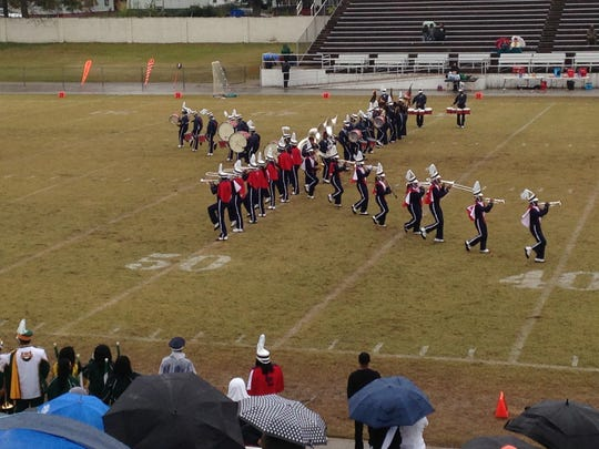 Lane's band performs at halftime of Saturday's 21-14 win over Kentucky State.
