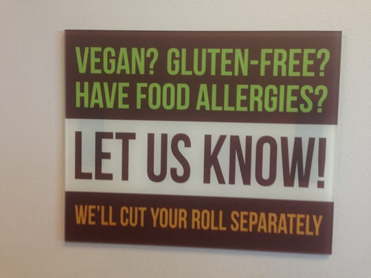 Vegan, gluten free and any other food allergies have a separate menu and dedicated tools and work area at How Do You Roll in University Plaza at Gulf Coast Town Center