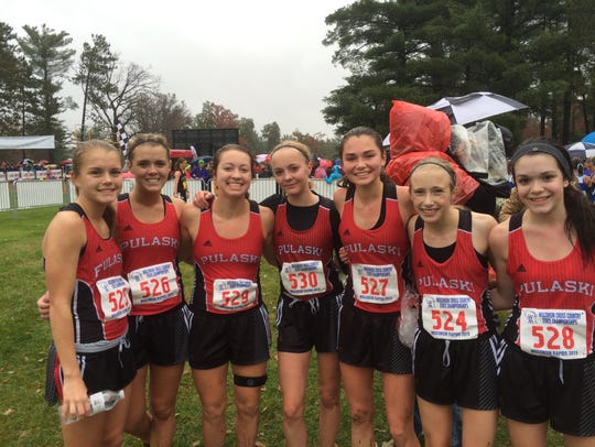 The Pulaski girls cross-country team made back-to-back