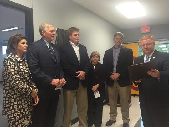 "BPCC Chancellor Rick Bateman honors H.E. ""Bud"" Storer's"