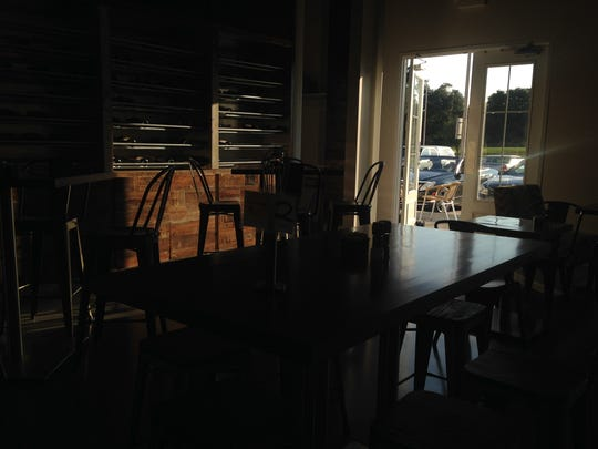 La Creperie Bistro's interior is a mix of cozy and