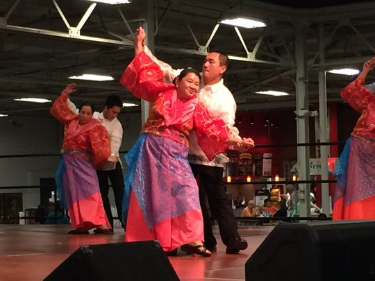 Maria Manalang danced with the SAYAW: Philippine Cultural Dance Company on Saturday, Nov. 7, 2015, at the Indy International Festival.