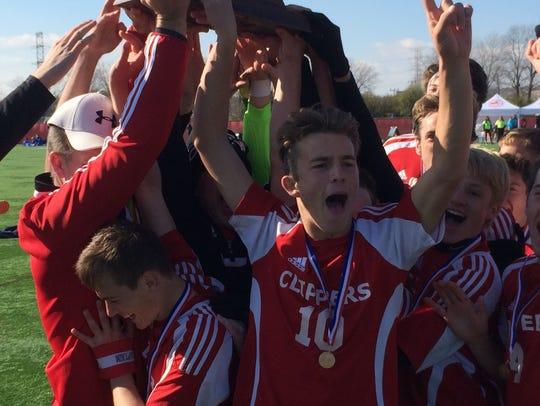 Sturgeon Bay celebrates its first state title.