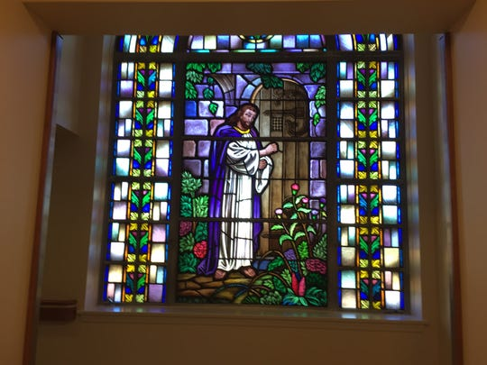The stained glass window at the N.J. Eastern Star Home was saved from the wrecking ball and reinstalled in the lobby of the new facility.