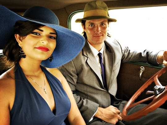 Actors Maya Angel and Devin Ludlow channel the '50s