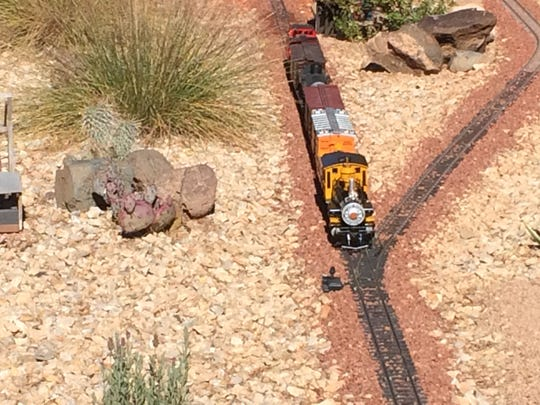 The G-scale model railroad is one of several that will be on display during the Color Country Railroad tour this weekend.