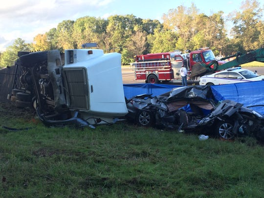 One person was killed and two were injured in this wreck on Mississippi 16 in Yazoo City.